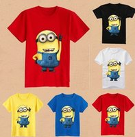 Wholesale Children s wear baby Despicable Me minion cartoon cartoon short sleeve T shirt boy girl leisure t shirt kids tops tees NXT14