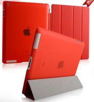 Wholesale NEW PU leather case Smart cover for iPad Air ipad ipad ipad mini mini with crystal transparent hard PC back case