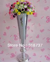 Wholesale 10pcs Wedding supplies table flower pot flower Mirror stainless steel vase H53cm