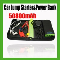 Wholesale 50800mAh Car Jump Starter High capacity Battery Charger Set for Emergency Power Supply Auto Vehicle Starting and Power Bank