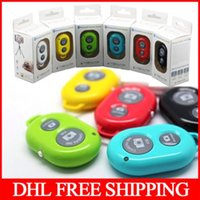 Wholesale DHL Wireless Bluetooth Remote Control Self timer Camera Wireless Shutter Snapshot Camera Control for iOS Android Phone