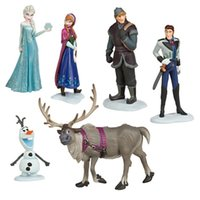 Wholesale Hot Sell Kawaii Gifts action toy figures sets Elsa and anna PVC Frozenly toys Anime Generation Model Toy Collection Gift