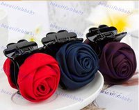 Wholesale Kroean Style Fashional Hair Clamp with Lace Rose Flower Hair Pins Ponytail Hair Clip Accessories for Ladies or Girls