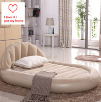 Wholesale Outdoor Automatic Inflatable Mattress Air Cushion Promotion Quality High end Luxury Home Leisure Double Furniture Bed Room Inflatable Beds B