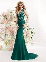 Cheap Unique design One-shoulder Sweetheart Tarik Ediz 2015Spring Summer Mermaid Evening Dresses Long Elie Prom Dresses Backless Evening Gowns
