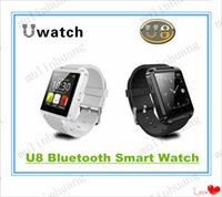 Wholesale U8 Smart Bluetooth Watches WristWatch U8 U Watch for iPhone S S Samsung S4 S5 Note Note HTC Android Phone Smartphones MQ20