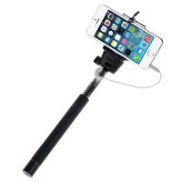 270mm*110mm*30mm photo equipment - Rertail Box Selfie Stick With Grooves Monopod Extendable Portrait Photo Tripod Handheld Holder For iPhone Camera SAMSUNG IOS