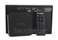 Wholesale Genuine MXQ Kodi Smart OTT TV BOX Amlogic S805 Quad Core XBMC KODI Streaming Media Playear Android Fully Loaded Google Play Store Rooted