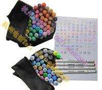 Wholesale color finecolour sketch twin marker set gift bags junior marker pen set alcohol base ink dual tip cheaper than Copic