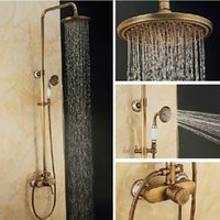 bathroom lighting bronze - Bathroom Shower Sets Brass Antique Classic Wall Mounted Faucet Autique Bronze Surface Brass Shower Faucet