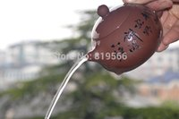 antique teapot sets - limited cc handmade yixing zisha teapot chinese antique xishi purple clay kung fu tea set ceramic gift direct selling