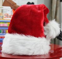 Wholesale New Christmas Hats Christmas Cosplay Hats Unisex Santa Claus Hat Red And White Velvet Costume Cute Adults Christmas Nice Cosplay Hats