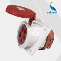 Wholesale Saipwell SP1155 Pin A V electrical AC socket components waterproof iec industrial plug socket