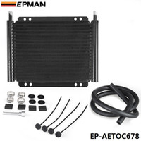 Wholesale EPMAN High Quality Racing Car Aluminum Performance Row Series Plate Fin Transmission Cooler Kit EP AETOC678