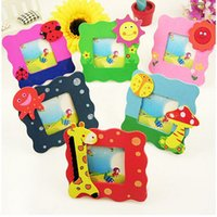 small picture frame - Cartoon Wooden Toy Mini Cartoon Photo Frame Gift Baby Small Picture Show Window