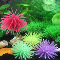 aquarium artificial plant - 2015 New Hot fashion Soft Colorful Artificial Silicone Coral Fish Tank Aquarium Decoration Ornament FG07078