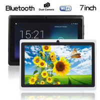 Wholesale 7 Inch Quad Core Q88 A33 Google Android Dual Camera WIFI Bluetooth G GB Tablet PC