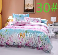 Wholesale 21Designs Promotion Korean cotton Reactive printed cover Bedding sheet bedspread pillowcase queen bed sets In stock
