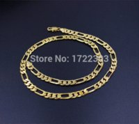 Wholesale 50cm amp mm fashion jewelry k gold plated chain and bracelet jewelry sets for men brazilian style necklace bracelet
