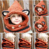 Wholesale Fashion Sweet Baby Kids Boys Girls Toddler Knitted Crochet Beanie Winter Hat Cap