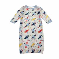 baby sleep gowns - Baby Sleep Gowns Cute Soft Cotton Baby Sleepwear Baby Boy Girl Colors moths Pajamas Clothes
