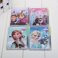 Wholesale 11 CM High quality Frozen Book Notebook with a Pen Student Diary Frozen Elsa Frozen Anna Book Student Notepad pages