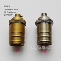aluminium base plates - Factory Loft Vintage Retro Plated Edison socket holder E27 UL V V Aluminium Lamp Base LB