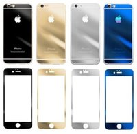 Wholesale Colored Tempered Glass Film Screen Protector Color Plating Explosion Proof Scratch H For iPhone6 plus iPhone5 s s G Front and Back