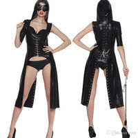 Wholesale Sexy lingerie sexy nightclub patent leather ds costumes jazz bar lead dancer pole dancing queen fitted dress
