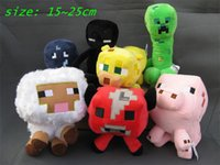 christmas toys - Christmas gifts Minecraft Enderman creeper Mooshroom sheep squid cow pink doll pig Piggy Stuffed animals styles plush toys free shipment
