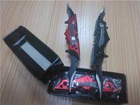 batman gear - Double Bladed mini Red Black Batman Pocket Knife outdoor gear DUAL BLADE hiking advanture camp gear