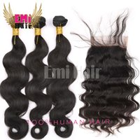 Wholesale Unprocessed Virgin Brazilian Hair With Closure Lace Closure With Bundles Brazilian Body Wave Hair Extension With Closure hair