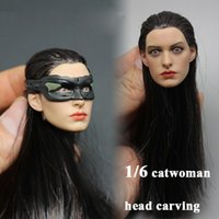 anne hathaway hair - Winstartoy Batman Catwoman Anne Hathaway hair transplant head carving for Hot toys action figure new box in stock now