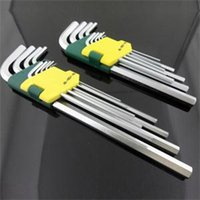 Wholesale 9 Group Packages Tool long ball Chrome vanadium alloy steel head hex wrench set
