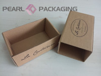 Wholesale Corrugated Puller Box for Bow Tie Packaging Customized Natural Brown Kraft Bowtie Box Drawer Style