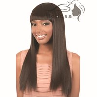 Wholesale Silk Straight black color Synthetic No Lace Front Wig New style black fashion Long Straight Women s Girl Full Hair Wigs Cosplay Party wig