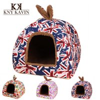 Wholesale Brand Dog House Fashion Small Pets House Union Flag New Arrival Puppy Beds For Pets Beds Cats Dog House HP352