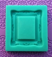 silicone soap molds - 1Pc Food grade D Silicone photo frame Shapes Cake Fondant Candy Chocolate Ice Cake Molds Tools silicone soap mold
