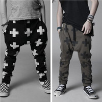 Wholesale 2016 boy girl cool Casual cross Harem Pants long pants color and size choose freely