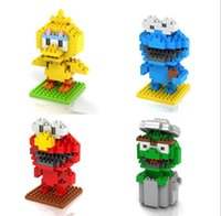 Wholesale loz puzzle blocks assembled creative small particles of diamond series Sesame Street toys