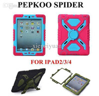 Wholesale Pepkoo Defender Military Spider Stand Water dirt shock Proof Case Cover Ipad iPad Air ipad iPad Mini Retina