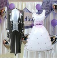 air foil design - Spongebob Bride and Groom Dress Shape Foil Balloons Cartoon Design Party Wedding Birthday Decoration air balloons