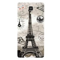 Wholesale Durable Print Painting Soft TPU Plastic Eiffel Tower Skull Retro Camera Cell Phone Housing Battery Back Case ForXiaoMI Mi4 Case Cover