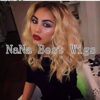 Cheap High quality two tone ombre wigs 1b #27 short bob brazilian human hair lace front wig for black women with baby hair natural hairline