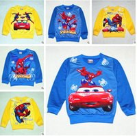 Wholesale 18 colors NEW Spider Man T shirts cartoon T shirts Outerwear For Kids Girls Frozen A910