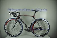 bicycles - T1000 De Rosa king full carbon fiber completed bike carbon road bike bicycle frame with carbon wheels handlebar DI2 groupset