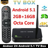 Wholesale Original Andoer Z4 Android TV Box RK3368 Octa Core Bit G G UHD K K H Kodi XBMC Miracast DLNA WiFi LAN Smart Media Player