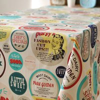 american dust covers - American Style Cotton amp Linen Tablecloth Colorful Letter Pattern Dust Proof Table Cloth Party Dinner Table Covers Home Textile