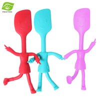 baked wired - Silicone Wire Iron Pastry Cream Smoothing Baking Spatula Little Man Style Butter Knife Cake Scraper dandys