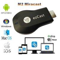 Wholesale Ezcast M2 Chromecast miracast airplay DLNA tv stick wireless display media player p hdmi wifi dongle for windows ios andriod